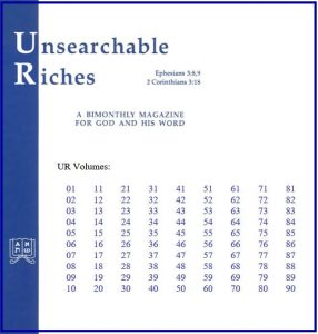 Unsearchable Riches | Concordant Publishing Concern